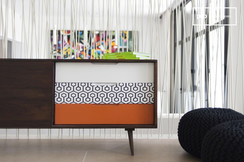 L\'enfilade en bois Londress rappelle le style propre au meuble nordique