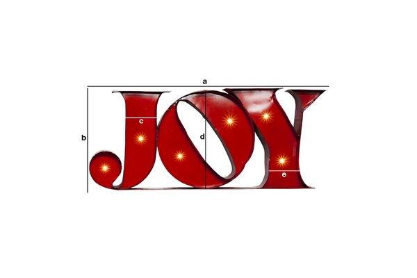 Dimensions du produit Enseigne lumineuse Joy