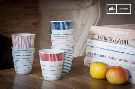 Ensemble de 6 tasses en porcelaine Grite