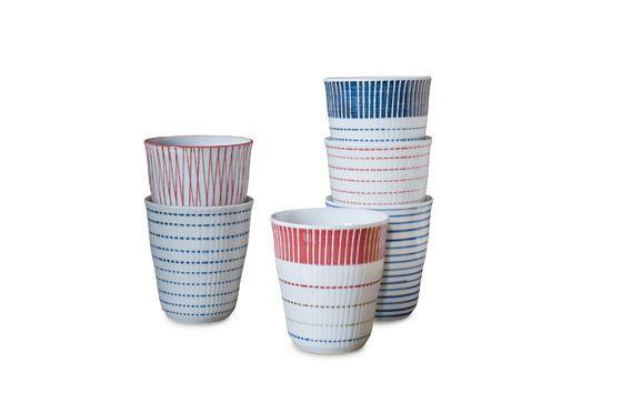 Ensemble de 6 tasses en porcelaine Grite Détouré