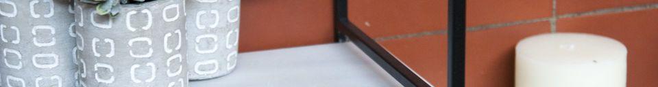 Mise en avant matière Etagère modulable en marbre Bridget
