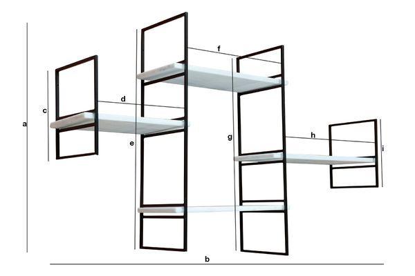 Dimensions du produit Etagère modulable en marbre Bridget