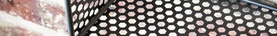 Mise en avant matière Etagère murale en métal Tograx