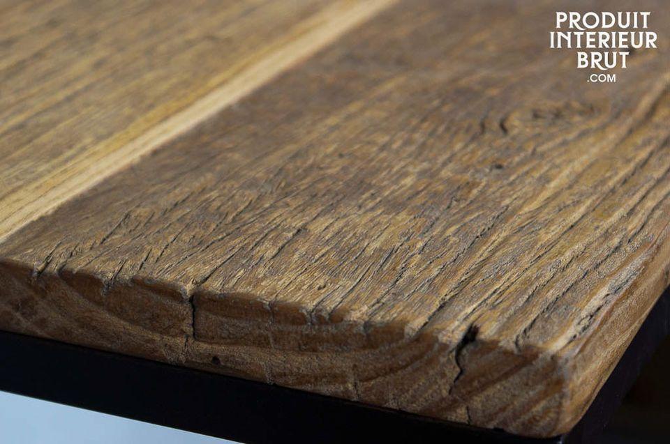 Étagère de 135 cm en fer et bois ancien