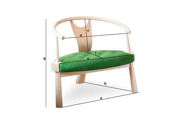 Dimensions du produit Fauteuil à trois pieds Wellinfield