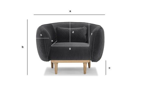 Dimensions du produit Fauteuil arrondi Olson