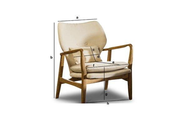 Dimensions du produit Fauteuil Breda
