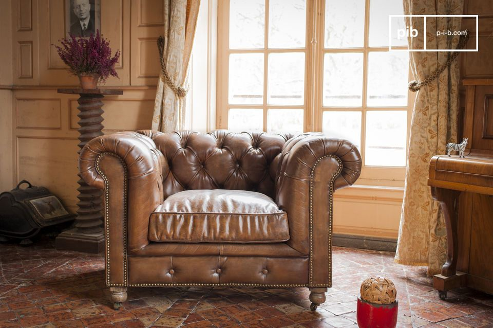 Fauteuil Chesterfield Saint Paul Touche club anglais
