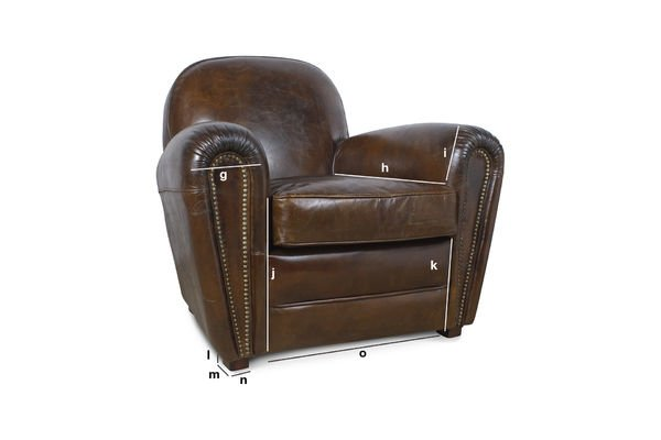 fauteuil cigar club elegance vintage pib. Black Bedroom Furniture Sets. Home Design Ideas