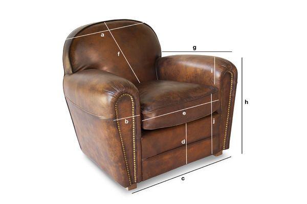 fauteuil club english coffee cuir pleine fleur tann pib. Black Bedroom Furniture Sets. Home Design Ideas