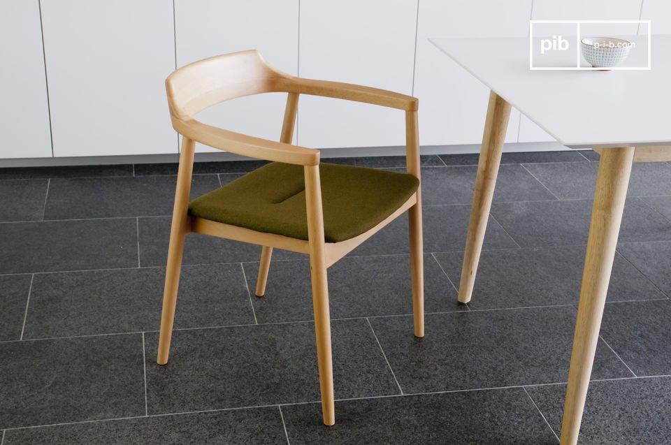Un siège typiquement dans l'esprit scandinave rétro