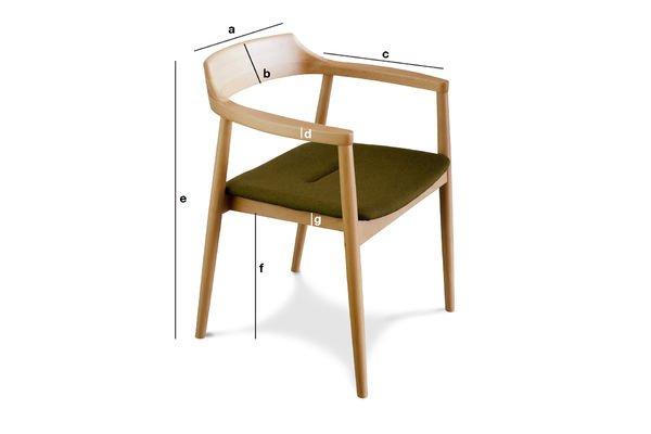 Dimensions du produit Fauteuil Copenhague