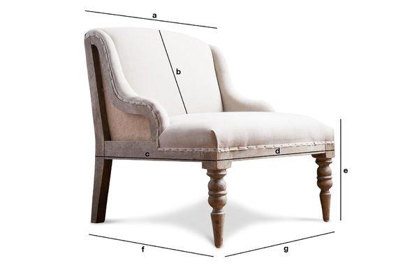 Dimensions du produit Fauteuil Dumas