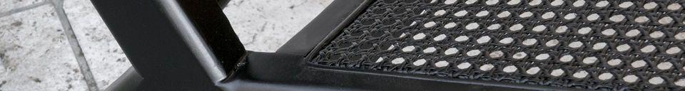 Mise en avant matière Fauteuil en cannage Black Thisted