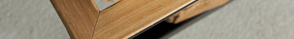 Mise en avant matière Fauteuil en cuir Avayona