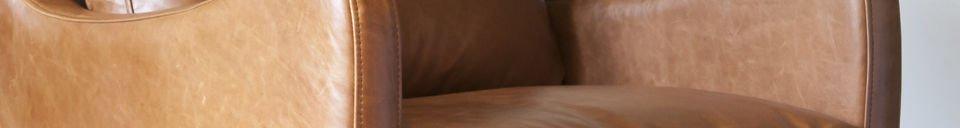 Mise en avant matière Fauteuil en cuir Edimbourg