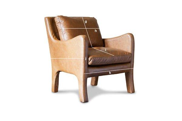 Dimensions du produit Fauteuil en cuir Edimbourg
