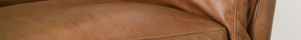 Mise en avant matière Fauteuil en cuir Hamar