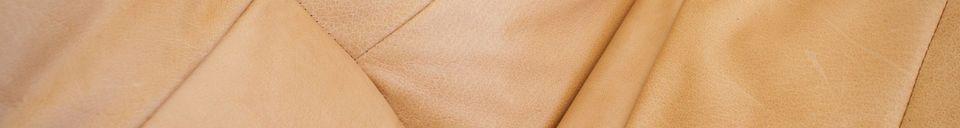 Mise en avant matière Fauteuil en cuir Matignon