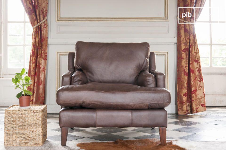 Dans la grande tradition du fauteuil en cuir anglais