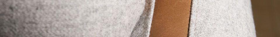 Mise en avant matière Fauteuil en laine Britta