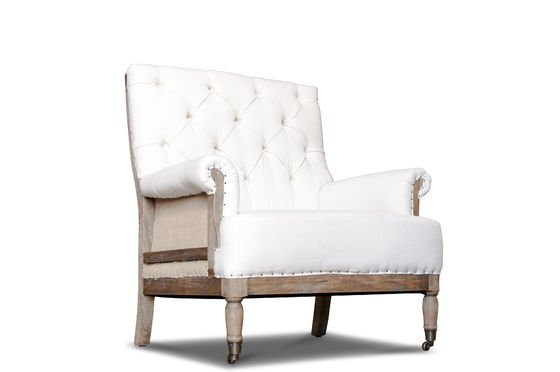 fauteuil en lin edmond lin et toile de jute pib. Black Bedroom Furniture Sets. Home Design Ideas