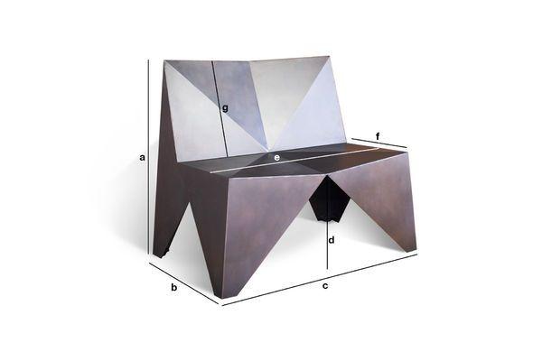 Dimensions du produit Fauteuil en métal Polygone