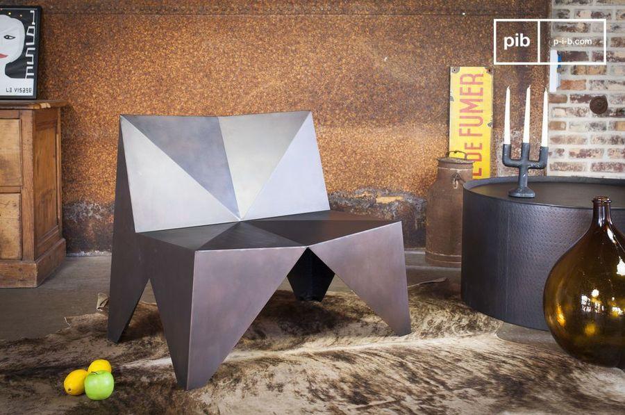 Fauteuil en métal Polygone
