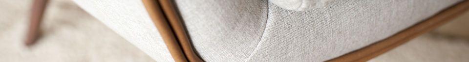 Mise en avant matière Fauteuil en tissu Järvi