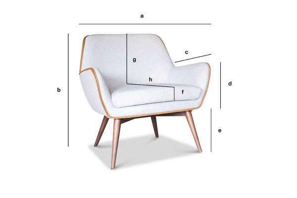 Dimensions du produit Fauteuil en tissu Järvi