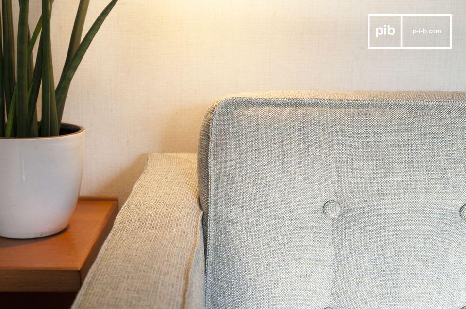 Tissu chiné, ligne mi-XXème et excellent confort