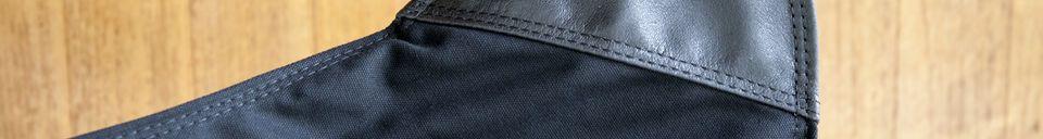 Mise en avant matière Fauteuil en toile Black Colina