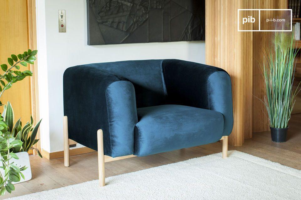 Un fauteuil à l'esprit scandinave intemporel, parfait pour apporter une touche colorée