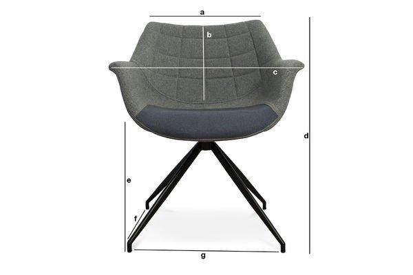 Dimensions du produit Fauteuil Grimsson gris