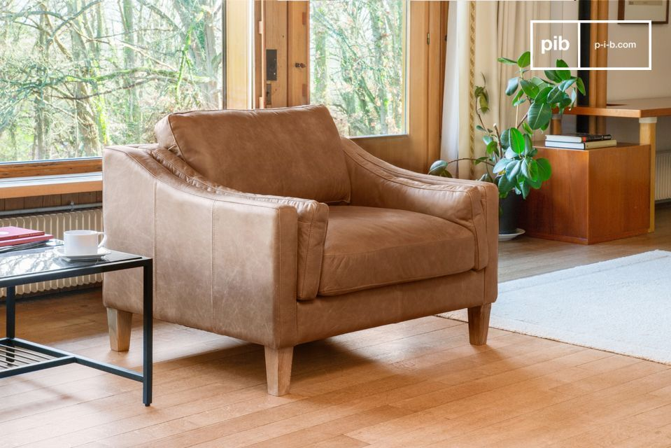Fauteuil Heidsieck cannelle