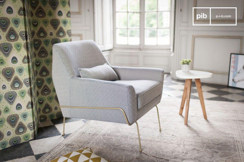 Un look rétro chic et un confort idéal : le fauteuil lounge Hilda amènera une touche vintage à