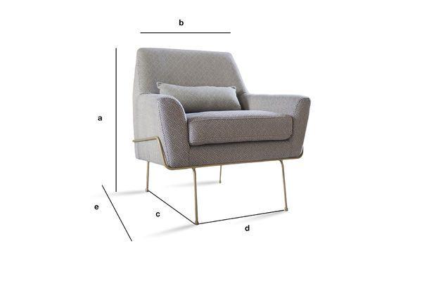 Dimensions du produit Fauteuil lounge Hilda