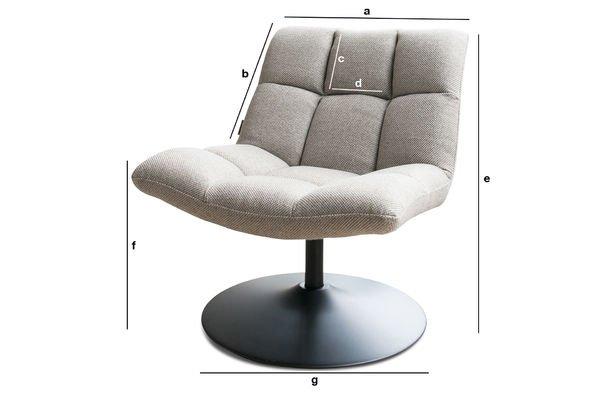 Dimensions du produit Fauteuil lounge Mesh