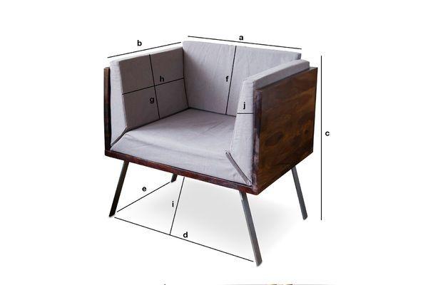 Dimensions du produit Fauteuil lounge Odéon