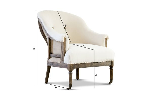 Dimensions du produit Fauteuil Rond Léonie