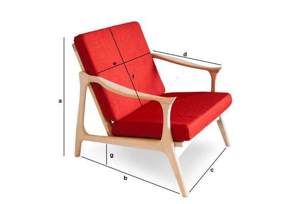 Dimensions du produit Fauteuil scandinave Aarhus