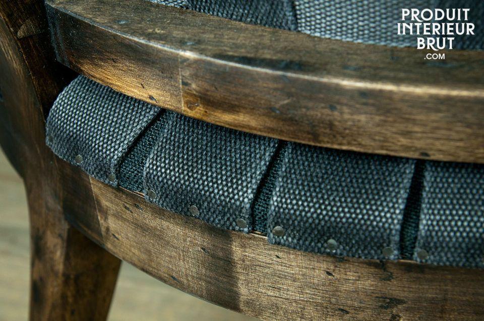 Style déstructuré pour un siège tendance vintage