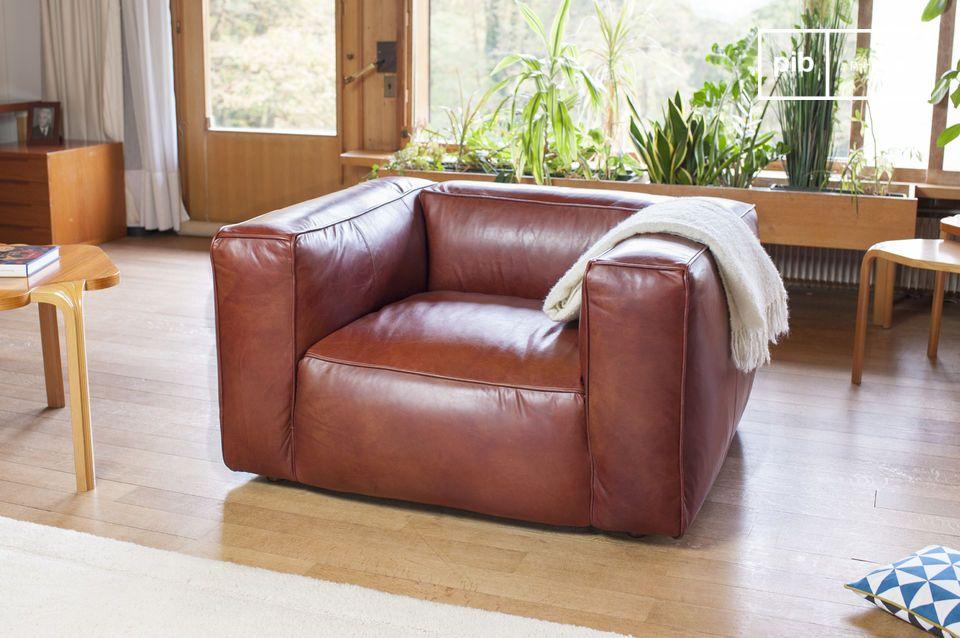 Un fauteuil en cuir d'exception