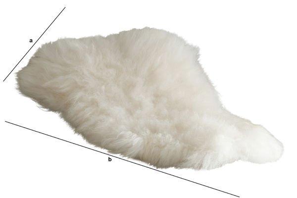 Dimensions du produit Fourrure de mouton d'Islande