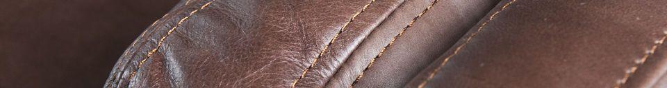 Mise en avant matière Grand Canapé Cuir Sanary