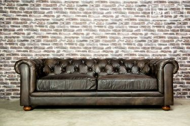 Grand canapé Dark Chesterfield