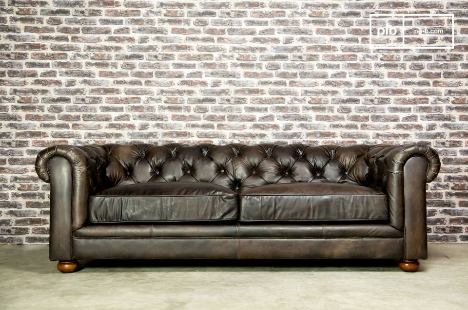 Grand canapé Dark Chesterfield