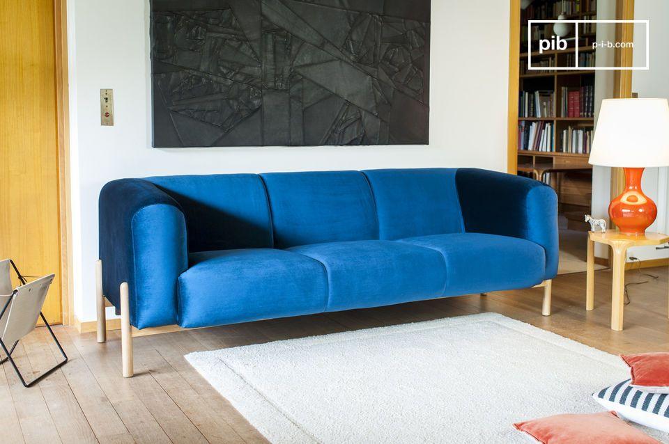 Un esprit scandinave intemporel, parfait pour une touche colorée dans un salon