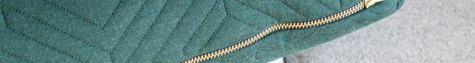 Mise en avant matière Grand coussin Quilt vert sombre