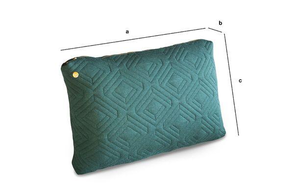 Dimensions du produit Grand coussin Quilt vert sombre
